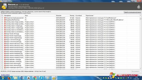 Captură de ecran Recuva pentru Windows XP