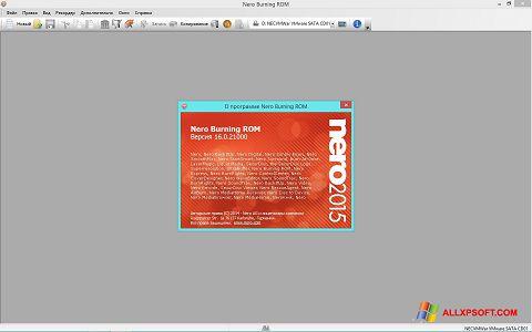 Captură de ecran Nero pentru Windows XP