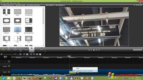 Captură de ecran Camtasia Studio pentru Windows XP