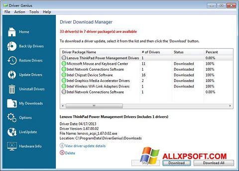 Captură de ecran Driver Genius Professional pentru Windows XP