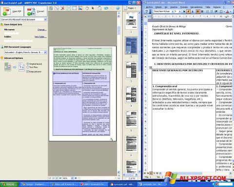 Captură de ecran ABBYY PDF Transformer pentru Windows XP