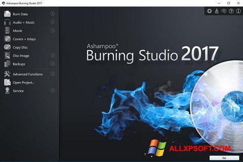Captură de ecran Ashampoo Burning Studio pentru Windows XP