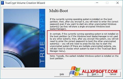 Captură de ecran MultiBoot pentru Windows XP