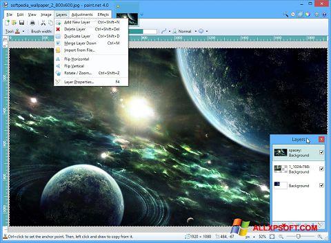 Captură de ecran Paint.NET pentru Windows XP